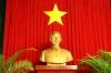 Statue von Ho Chi Minh im Reunification Palace