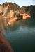 Sprung vom Bootsdach