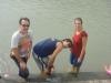Füsse baden im Ganges