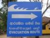 Tsunami-Evakuierungs-Schild