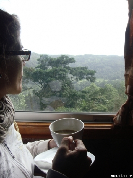 Kafi im Rajadhani Express Kandy - Colombo