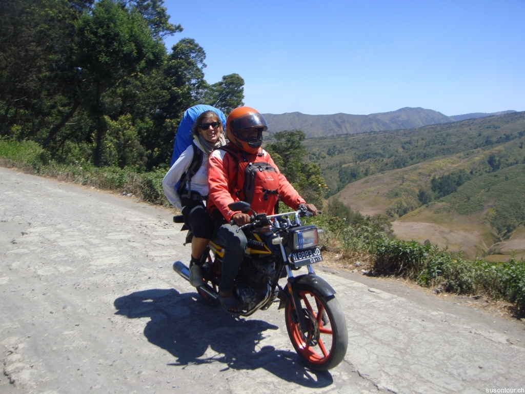 Mit dem Ojek nach Cemoro Lawang
