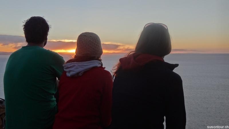 Sonnenuntergang auf dem Cerro Calvario
