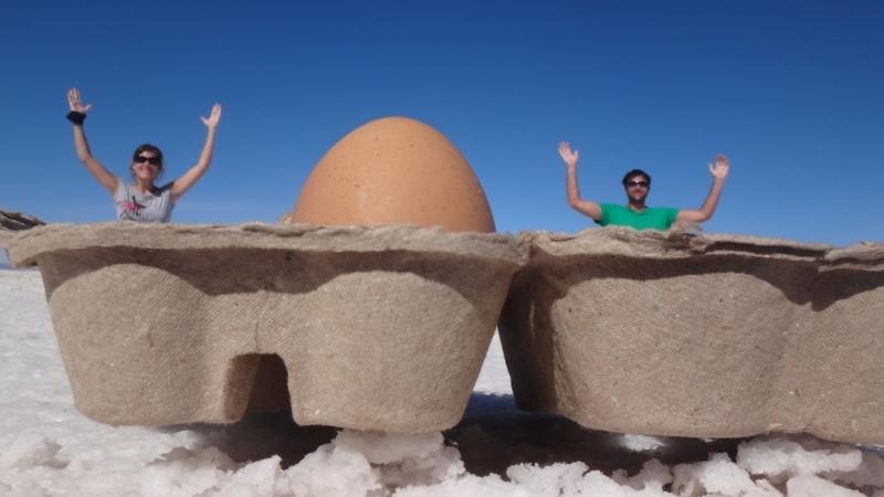 Wir in der Eierbox