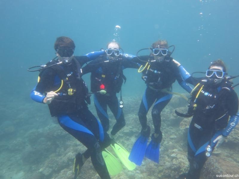 Unterwasser Gruppenfoeteli